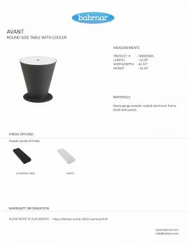 Babmar - AVANT ROUND SIDE TABLE WITH COOLER - Image 3