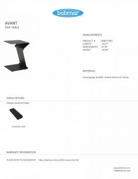 Babmar - AVANT SIDE TABLE - Image 2