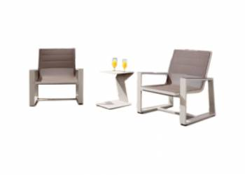 Shop By Collection - Mykonos Collection - Mykonos Mesh Club Chair Set - QUICK SHIP