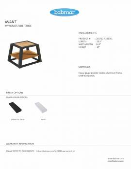Mykonos Mesh Chair And Side Table - QUICK SHIP - Image 5