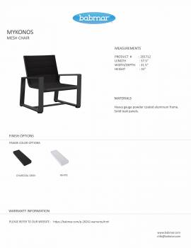 Mykonos Mesh Chair And Side Table - QUICK SHIP - Image 6