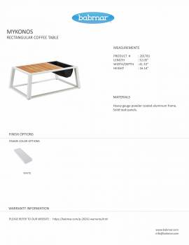 Mykonos Rectangular Coffee Table - Image 2