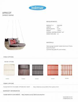 Apricot Hanging Daybed -White Wicker - Quick Ship - Image 4