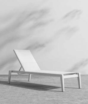 Shop By Category - Babmar - AVANT STACKABLE CHAISE LOUNGE - WHITE FRAME
