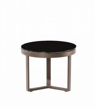 Amber Brown Short Side Table - QUICK SHIP