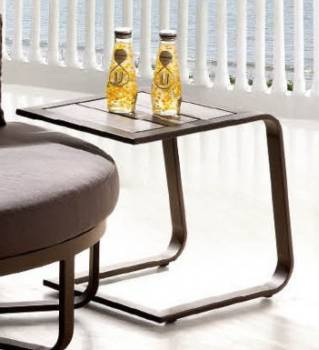 Polo Brown Side Table - QUICK SHIP