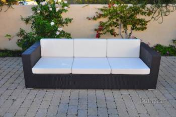 Outdoor Furniture Sets And Quick Ship Items - Outdoor Sofa & Seating Sets - Babmar - Swing 46 One Piece 3 Seater Sofa
