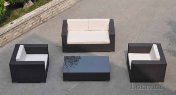Outdoor Furniture Sets And Quick Ship Items - Outdoor Sofa & Seating Sets - Babmar - Swing 46 Love Seat Set With 2 club chairs