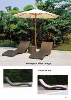 Metropolis Wave Sun Lounger