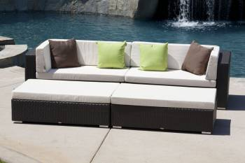 Outdoor Sofa & Seating Sets - Outdoor Seating Sets For 5 - Babmar - Byzantine Sofa Set (Swing 46 Design)