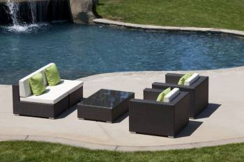 Outdoor Furniture Sets And Quick Ship Items - Outdoor Sofa & Seating Sets - Babmar - Tetto Sofa Set (Swing 46 Design)