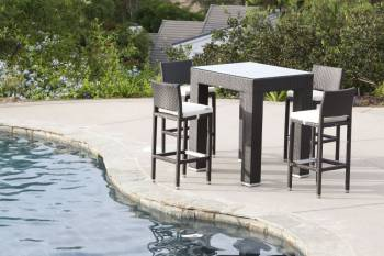 Outdoor Furniture Sets And Quick Ship Items - Babmar - Corretto Bar Set Without Arms