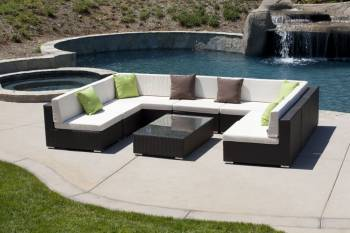 Outdoor Furniture Sets - Outdoor Sofa & Seating Sets - Swing 46 U Shaped Sectional Style 1