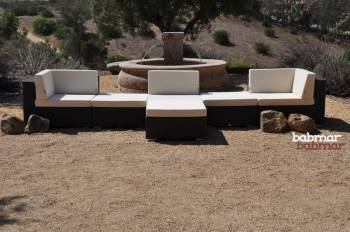 Tuscano Sofa Set For 3 With 3 Ottomans