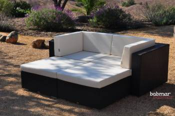 Outdoor Furniture Sets And Quick Ship Items - Outdoor Sofa & Seating Sets - Babmar - Lucca Sofa Set (Swing 46 Design)