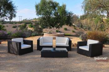 Swing 46 Modular Loveseat Set with 2 club chairs