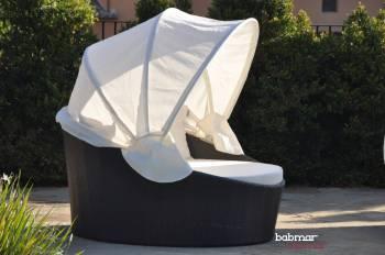 Babmar - Iridium Modern Round Daybed With Canopy - Image 2