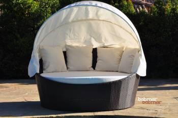 Babmar - Iridium Modern Round Daybed With Canopy - Image 3