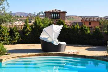 Babmar - Iridium Modern Round Daybed With Canopy - Image 5