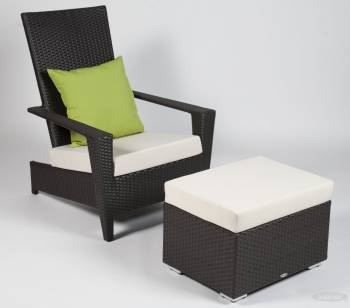 Individual Pieces - Sofa And Chair Seating - Martano Stackable Chair with Ottoman
