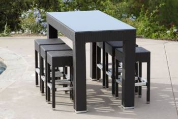 Outdoor Furniture Sets - Babmar - Pandora Bar Set For Six