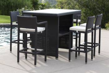 Outdoor Furniture Sets - Babmar - Vertigo Bar Set for 6