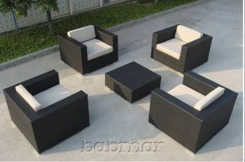 Outdoor Furniture Sets And Quick Ship Items - Outdoor Sofa & Seating Sets - Babmar - Swing 46 Club Chair Set for 4