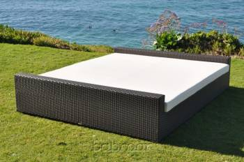 Outdoor Furniture Sets - Outdoor Daybeds - Babmar - Flatiron Rectangular Sun Bed