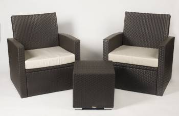 Package Deals - Outdoor Sofa & Seating Sets - Palomino Club Chair Set for 2 with square side table
