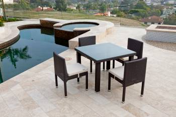 Vita Armless Dining Set For Four