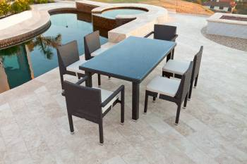 Outdoor Furniture Sets - Outdoor  Dining Sets - Vita Dining Set For Six