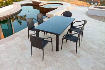 Outdoor  Dining Sets - Outdoor Dining Sets For 6 - Luna Dining Set For Six