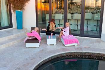 Childern's Outdoor Chaise Lounge(Qty 2) and 1 Side Table