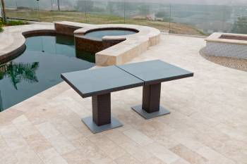 Vita Dining Set For Six with Two Bistro Tables