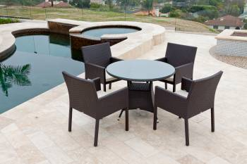 Outdoor Furniture Sets And Quick Ship Items - Outdoor  Dining Sets - Bella Dining Set For Four With Round Table