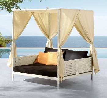 Outdoor Furniture Sets - Outdoor Daybeds - Taco Leisure Daybed with Canopy