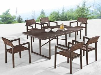 Outdoor Furniture Sets - Outdoor  Dining Sets - Asthina Dining Set for 6
