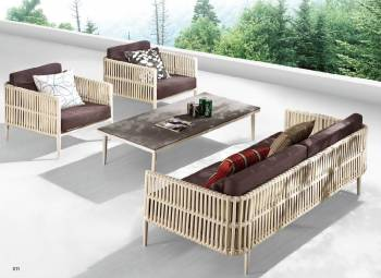 Outdoor Sofa & Seating Sets - Outdoor Seating Sets For 5 - Kitaibela Sofa Set