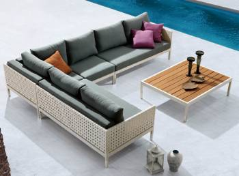 Package Deals - Outdoor Sofa & Seating Sets - Taco Sectional Sofa Set