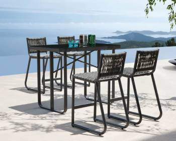 Outdoor Bar Sets - Outdoor Bar Sets For 4 - Haiti Bar Set for 4