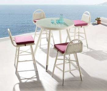 Outdoor Furniture Sets - Outdoor Bar Sets - Fatsia Bar Set For 4