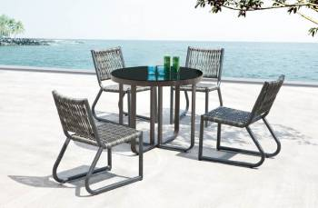 Outdoor Furniture Sets - Outdoor  Dining Sets - Haiti Armless Dining Set For 4