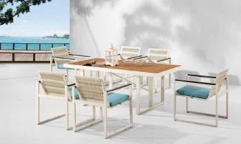 Outdoor  Dining Sets - Outdoor Dining Sets For 6 - Wisteria Dining Set for 6