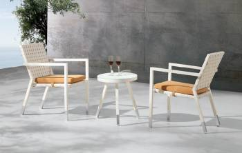 Outdoor  Dining Sets - Outdoor Dining Sets For 2 - Taco Chair Set for 2 with side table