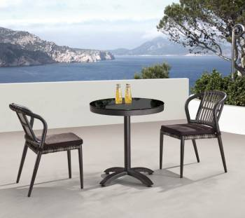 Outdoor  Dining Sets - Outdoor Dining Sets For 2 - Kitaibela Armless Dining Set for Two with Small Bistro Table