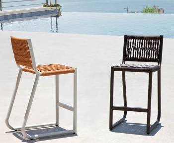 Shop By Collection and Style - Wisteria Collection - Babmar - Haiti Armless Barstool