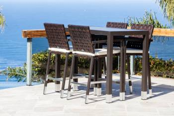 Outdoor Furniture Sets - Outdoor Bar Sets - Taco Bar Set for 4