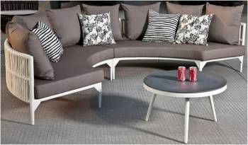 Outdoor Furniture Sets - Outdoor Sofa & Seating Sets - Kitaibela Round Sofa Set